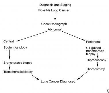 Non–small cell lung cancer. Diagnostic approach fo