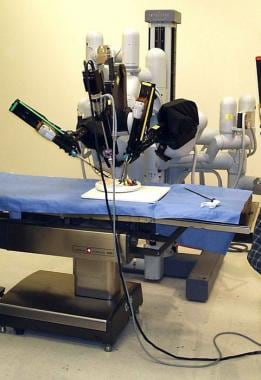 Laparoscopic surgery robot.