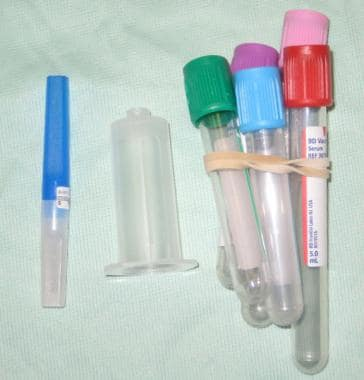 Vacuum collection tubes and adaptor for IV cannula