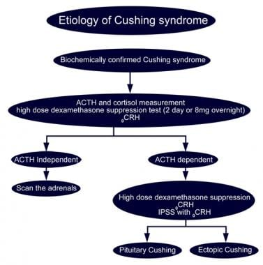 Etiology of Cushing syndrome.