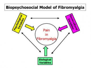 Biopsychosocial model of fibromyalgia.