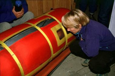 Hyperbaric treatment at 4250 m in a Gamow bag.