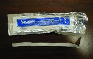 Vaseline gauze packing.