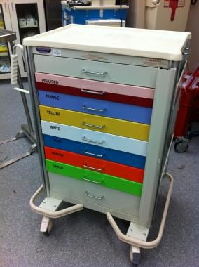 Code Cart (color-coded).