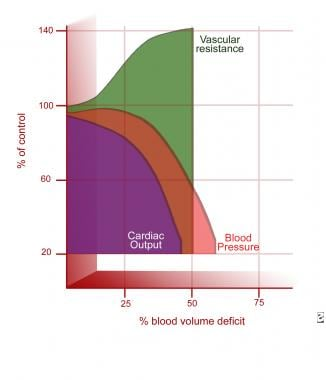 Hemodynamic response to shock hemorrhage model (ba