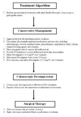 Treatment algorithm for intestinal pseudo-obstruct