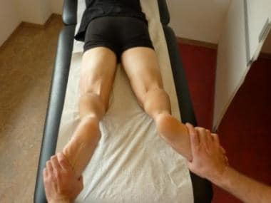 External rotation thigh foot angle test for poster