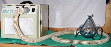 A Bilevel positive airway pressure support machine