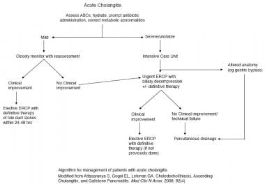 Algorithm for management of patients with acute ch