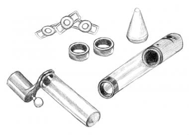 This image depicts a vacuum device used to produce