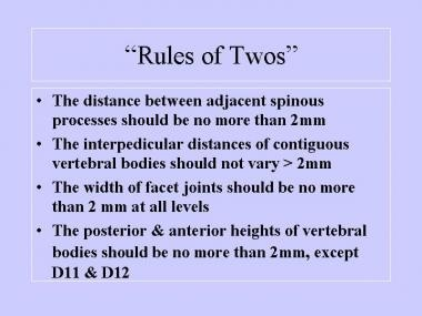 Rules of 2s.