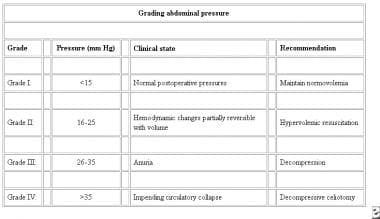 Grading abdominal pressure. Courtesy of Saggi BH,