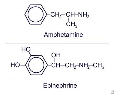 Amphetamine and epinephrine.