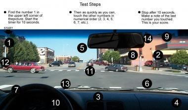 Driver's evaluation. Steps in testing for reaction