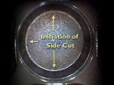 The diameter and depth of the cut is preprogrammed