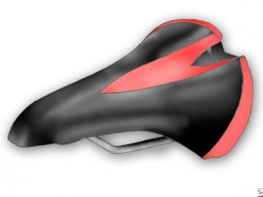 Example of a bicycle seat with a cut-away middle.