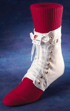 Example of a lace-up ankle support. Courtesy of Sw