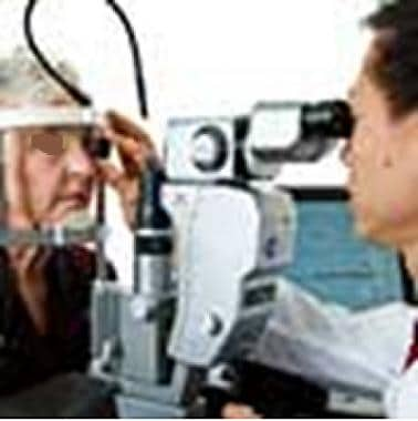 Slit lamp examination. Image courtesy of National