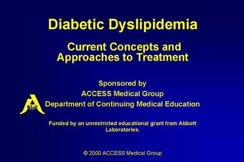diabetic dyslipidemia  current concepts and approaches to