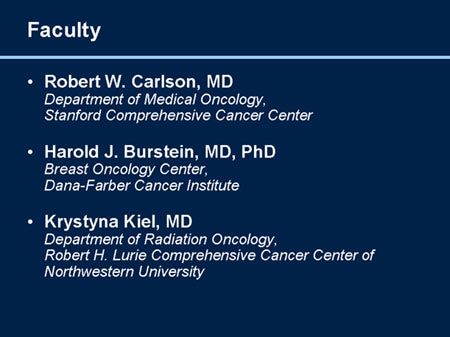 NCCN Clinical Practice Guidelines in Oncology: Breast Cancer