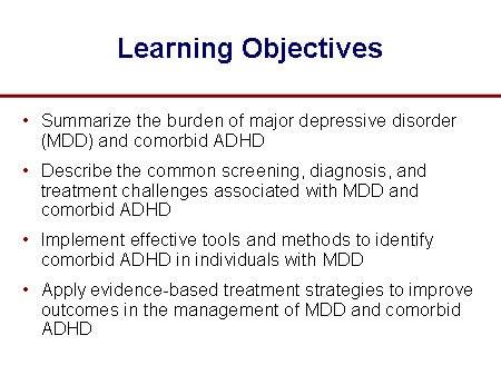 Depression and Comorbid ADHD