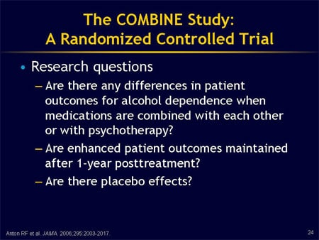 CeDAR Education Article - Naltrexone and the COMBINE Study