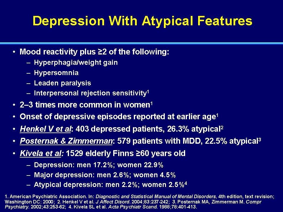 atypisk depression medicin