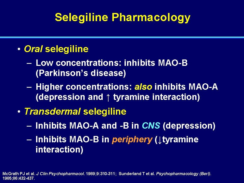 Selegiline sexual side effects