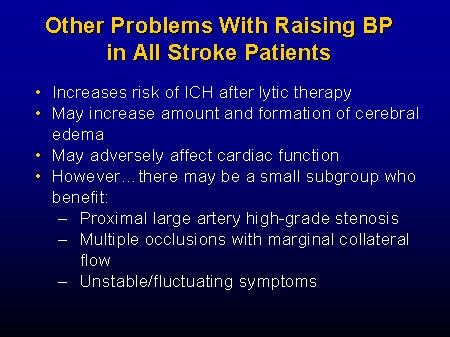 Debate: Hypertension and Acute Ischemic Stroke -- When and