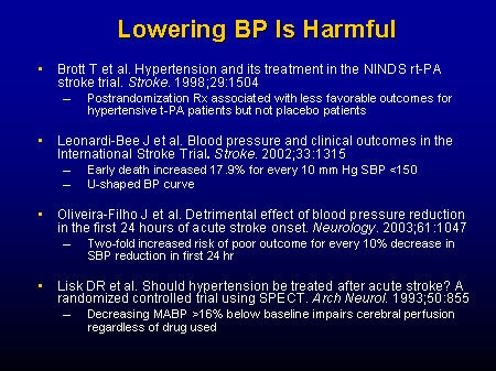 Debate: Hypertension and Acute Ischemic Stroke -- When and How to Treat
