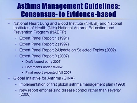 Nhlbi asthma guidelines