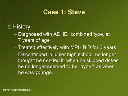 adhd medication case studies Some evidence that adhd medication does more good than harm  other  studies also show benefits to medicating kids in the early 1990s.