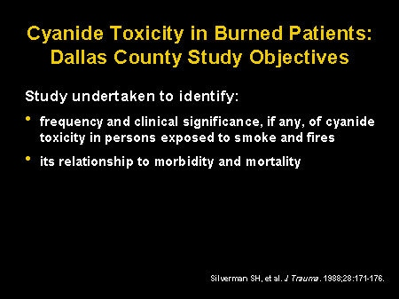 The Role of Cyanide in Smoke Inhalation: New Treatment for a