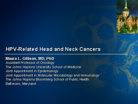 hpv head and neck cancer ppt