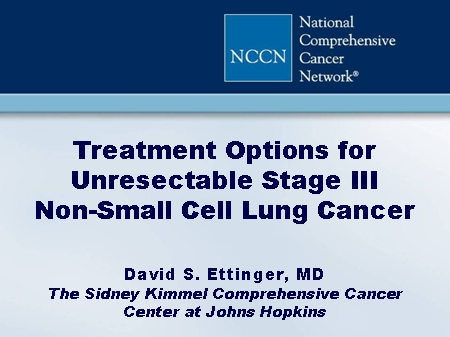 Best options for stave iv non small cell lung cancer