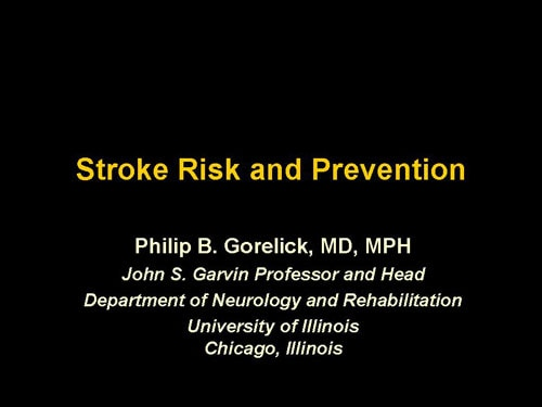 Stroke Risk and Prevention (Slides With Transcript)