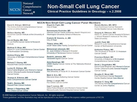 NCCN Non-Small Cell Lung Cancer Guidelines Update (Slides