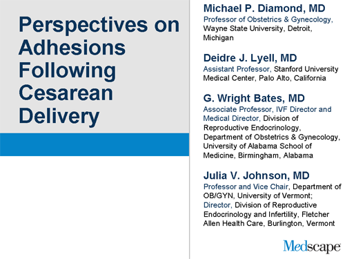 Perspectives on Adhesions Following Cesarean Delivery (Slides