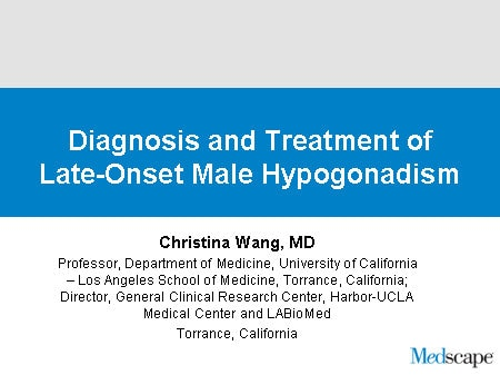 Recognizing and Treating Androgen Deficiency Syndrome in